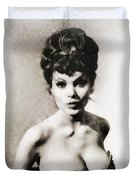 Madeline Smith, Vintage Actress Duvet Cover