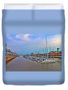 Madero Boat Yard Duvet Cover