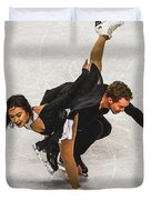 Madison Chock And Evan Bates Duvet Cover