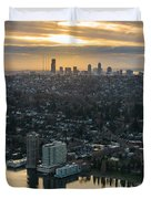 Madison Park And The Seattle Skyline Duvet Cover