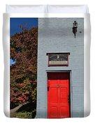 Madison Red Fire House Door Duvet Cover