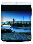 Madison River Yellowstone At Dawn Duvet Cover
