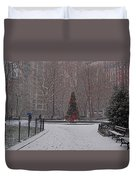 Madison Square Park In The Snow At Christmas Duvet Cover