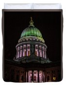 Madison Wi At Night Duvet Cover