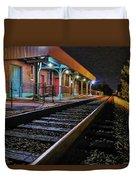 Madisonville Train Depot Duvet Cover