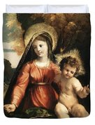 Madonna And Child 1525 Duvet Cover