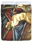 Madonna And Child And The Young St John The Baptist 1495 Duvet Cover