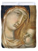 Madonna And Child Fragment  Duvet Cover