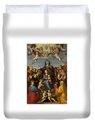 Madonna And Child With Saint Anne And The Patron Saints Of Florence Duvet Cover