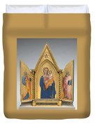 Madonna And Child With Saint Peter And Saint John The Evangelist [middle Panel] Duvet Cover