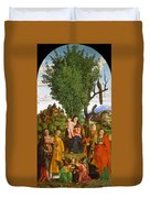 Madonna And Child With Saints Duvet Cover