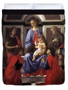 Madonna And Child With Six Saints Duvet Cover