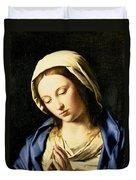 Madonna At Prayer Duvet Cover