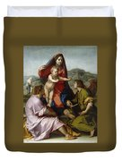 Madonna Della Scala. Virgin Of The Stairs Duvet Cover