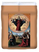Madonna In Glory And Holy Hones Duvet Cover