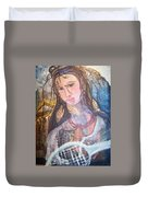 Madonna Of The Racket Duvet Cover