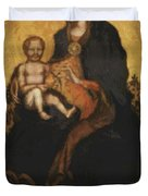 Madonna With Angels 1410 Duvet Cover