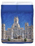 Madrid City Hall Duvet Cover by Joan Carroll