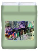 Madrid Mailboxes Duvet Cover