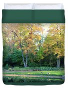 Mae Stecker Park In Shelby Township Michigan Duvet Cover