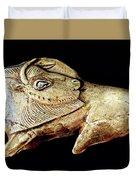 Magdalenian Carved Bison  Duvet Cover