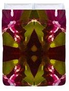 Magent Crystal Flower Duvet Cover