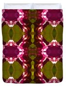 Magenta Crystal Pattern Duvet Cover by Amy Vangsgard