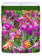 Magenta Floral Pattern Duvet Cover