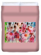 Magenta May Flowers Duvet Cover