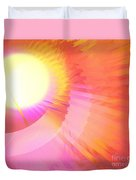 Magenta Orange Sunshine Duvet Cover