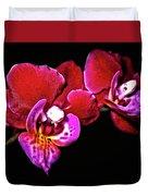Magenta Phaleonopsis Orchid Duvet Cover