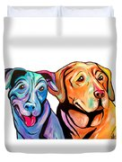 Maggie And Raven Duvet Cover
