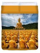 Magha Puja Memorial Buddhist Park Duvet Cover