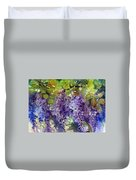 Magic In Purples And Greens Duvet Cover