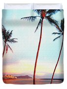 Magic Island Canvas Duvet Cover