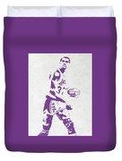 Magic Johnson Los Angeles Lakers Pixel Art Duvet Cover