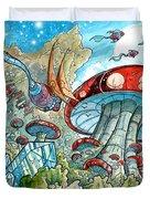 Magic Mushroom Forest Duvet Cover