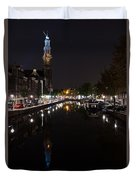 Magical Amsterdam Night - Blue Crown Skyline Duvet Cover