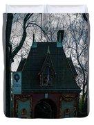 Magical Christmas Biltmore Entrance Duvet Cover