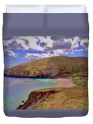 Magical Keem Beach Crowned By Clouds From Heaven Duvet Cover