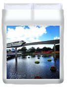 Magical Monorail Ride Duvet Cover