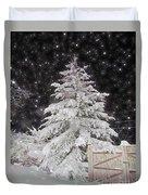 Magical Nighttime Snow Duvet Cover