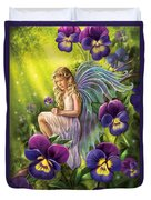 Magical Pansies Duvet Cover