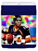 Magical Peyton Manning Borncos Duvet Cover