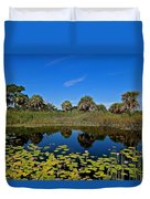 Magical Pond With Water Lilies Duvet Cover