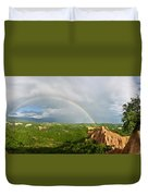 Magical Rainbow Panorama Duvet Cover