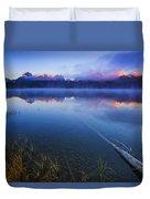 Magical Sunrise Along Sawtooth Mountain Range Stanley Idaho Duvet Cover