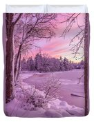Magical Sunset After Snow Storm 1 Duvet Cover