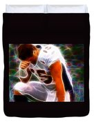 Magical Tebowing Duvet Cover by Paul Van Scott