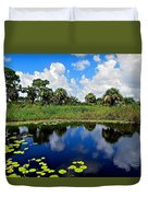 Magical Water Lily Pond 2 Duvet Cover